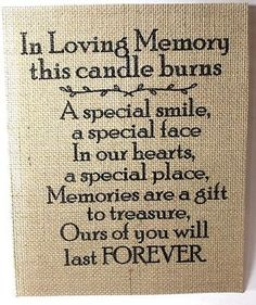 Rustic-Vintage-Country-Burlap-Wedding-Sign-LOVING-MEMORY-THIS-CANDLE-BURNS-8X10