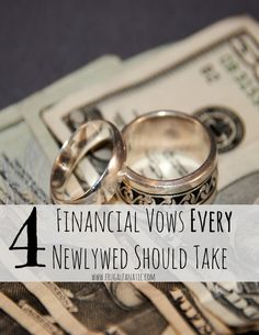 Four Financial Vows Every Newlywed Should Take - Read these great tips to help you successfully budget as a married couple!
