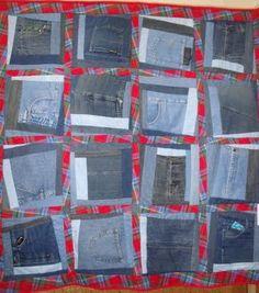 Pockets Full.  A fun denim quilt seen at the Rangitikei Quilt Show, July 2011.  Photo by Kayjay, Wellington, NZ