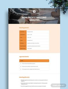 Instantly Download Free Non Profit Meeting Minutes Template, Sample & Example in PDF, Microsoft Word (DOC), Apple Pages Format. Available in A4 & US Sizes. Quickly Customize. Easily Editable & Printable. Word Doc, Microsoft Word, Non Profit, A4, Printable, Social Media, Apple, Templates, Words