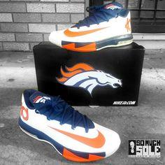 Denver Broncos Custom Sneakers: Nikes, Toms, Vans,