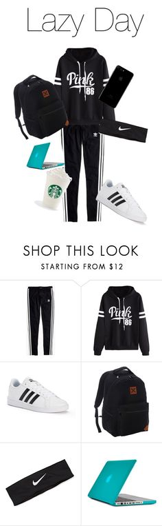 """""""Lazy Day"""" by emmilie-mcneely ❤ liked on Polyvore featuring Madewell, WithChic, adidas, Hooey, NIKE and Speck"""