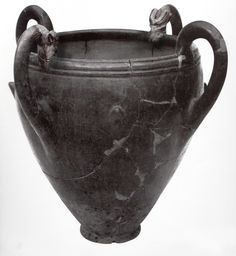 Hittite, animal head handles big dish, Kültepe- Kaniş, 1945-1835 BC  (Erdinç Bakla archive)