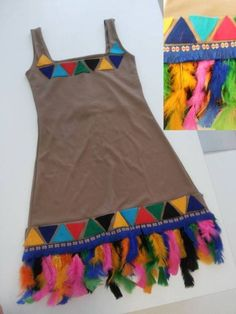 Que tal a fantasia de Pocahontas? Costume Carnaval, Carnival Costumes, Diy Costumes, Halloween Costumes, Indian Birthday Parties, Indian Party, Wild West Party, Indian Costumes, Fancy Dress