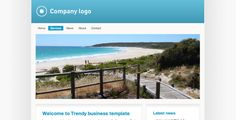 Trendy blue business . Simple and clean layout and design. Easy for many company identities to blend and