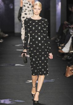 Simple pattern can be used; just purchase the right material and sew a Diane von Furstenberg - FW- 2012-2013