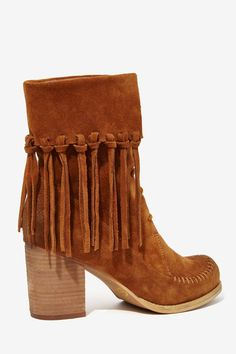 Sbicca Wagon Suede Booties in Tan