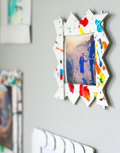 cardboard frames for a children's gallery wall #crafts