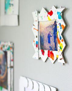 kid diyproject, kids diy, craft, art frames, galleri, kids artwork, kid artwork, diy cardboard frames, art projects