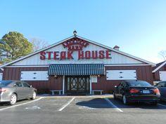 Aberdeen Barn Steakhouse, Virginia Beach VA.  The best place I ever ate!