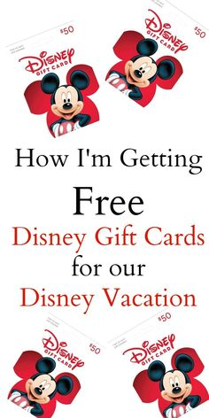 I am loving all of the ways I have gotten free Disney gift cards for my upcoming… I am loving all of the ways I have gotten free Disney gift cards for my upcoming Disney World vacation! I am sharing my secrets with you today! I am loving all of the. Disney On A Budget, Disney World Vacation Planning, Disneyland Vacation, Walt Disney World Vacations, Disney Planning, Disney Parks, Disney Travel, Disneyland Tips, Florida Vacation