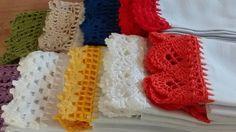 Pano de prato 100% algodão, 0,50x0,70, sem estampa ,com barrado em crochê