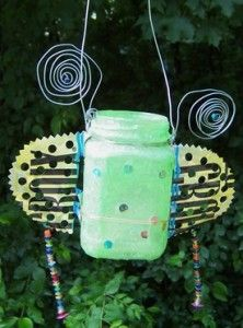 Recycled jar - cute project for outdoor decor!