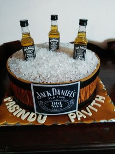 Jack Daniels theme for those who enjoy their drinks, Birthday Cake designed and created by Yamuna Silva of Yami Cakes, Kotte Sri Lanka