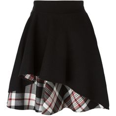 Alexander McQueen Ruffled a-Line Skirt ($538) ❤ liked on Polyvore featuring skirts, bottoms, alexander mcqueen, gonne, black, plaid skirt, frill skirt, a line plaid skirt, tartan plaid skirt and frilly skirts