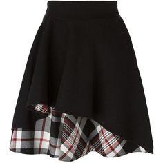 Alexander McQueen Ruffled a-Line Skirt ($538) ❤ liked on Polyvore featuring skirts, bottoms, alexander mcqueen, gonne, black, plaid skirt, frill skirt, a line plaid skirt, tartan plaid skirt and frilly skirts Black Ruffle Skirt, Black A Line Skirt, Frilly Skirt, Chambray, A Line Skirts, Mini Skirts, Skirt Mini, Alexander Mcqueen, Diy Vetement