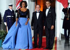 Michelle Obama Gown 2014 | First Lady's Carolina Herrera Dress A Smash At State Dinner