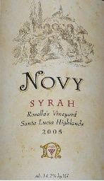 2005 Novy Family Wines Syrah Rosella's Vineyard