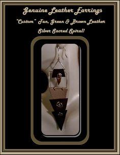 leather earrings, leather jewelry, artistic earrings, art jewlery | ArtisticCreationsbyRose - Jewelry on ArtFire