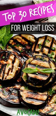 These top 30 recipes for weight loss will help you make quick and healthy meals during the week that will also help you lose weight fast! #healthyweightloss #avocadu