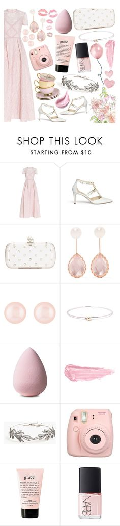 """Royal Garden"" by tropicalcraze ❤ liked on Polyvore featuring Elie Saab, René Caovilla, Lela Rose, Larkspur & Hawk, Henri Bendel, By Terry, Jennifer Behr, Fujifilm, philosophy and NARS Cosmetics"