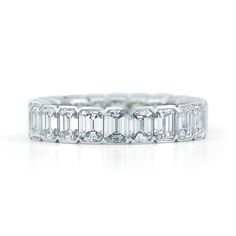emerald cut bevel set eternity band - Google Search