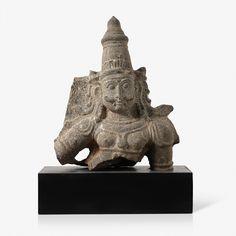 Granite bust of a Dwarpal, 17th CE Live Auction: South Asian Treasures -Dec 17, 2014