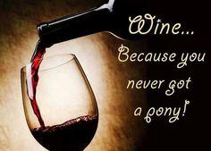 Wine.....Because you never got a pony!!