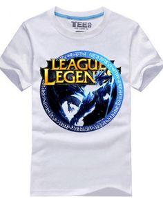 League of Legends camisetas para meninos Shyvana algodão-