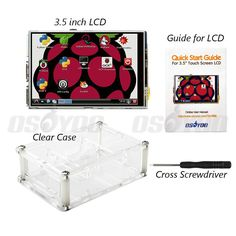 """3.5 """"LCD Layar Sentuh TFT Display dengan Stylus untuk Raspberry Pi 2 Pi 3 + Acrylic transparan Kasus Gratis Pengiriman"""