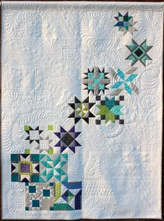 Pinwheel Galaxy Quilt by Maxie Makes