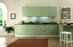 Kuchnia, zielona kuchnia, zielone meble kuchenne, szafki kuchenne, kolorowe kuchnie. Zobacz więcej na: https://www.homify.pl/katalogi-inspiracji/15902/trendy-zielone-kuchnie