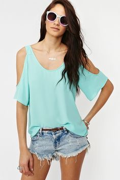 Minty aqua cute shirt