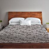 Found it at Wayfair.ca - All Over Sleep Words Fleece Duvet Cover