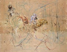 Henri De Toulouse-Lautrec | Sketch for 'At the Masked Ball' - Henri de Toulouse-Lautrec as art ...