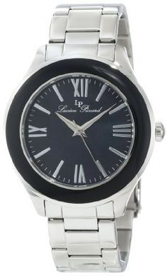 Lucien Piccard Women's 11662-11MOP Gran Paradiso Black Mother-Of-Pearl Dial Stainless Steel Watch Lucien Piccard. $85.80. Sapphitek crystal; stainless steel case and bracelet. Black mother of pearl dial with silver tone hands, hour markers and Roman numerals; stainless steel bezel with black top ring; interchangeable stainless steel bezel with black Austrian crystals included. Water-resistant to 50 M (165 feet). Silver tone second hand. Swiss quartz movement