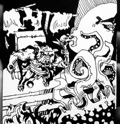 >>INTERCEPT CTHULHU DOG. WIELD FETISH. Shaking off the slack tendon-snares of your now-panicked NUG captors you position yourself bravely between the NUG KING and the CTHULHUDOG as its stone form crashes up the stairs to the throne. You push the KING out of the way and he rolls down the stairs gathering fur as he goes and then collapses in a heap at their bottom. Attempting to call upon the power of the FETISH OF MISFORTUNE you waggle it at the CTHULHUDOG in as menacing a fashion as you can…