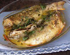 W Mojej Kuchni Lubię.. : okoń z piekarnika na maśle z pietruszką, cytryną.....