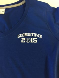 Georgetown printed left chest logo