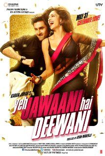 Badtameez Dil song of Yeh Jawaani Hai Deewani starring Deepika Padukone and Ranbir Singh has been released. YJHD is one of the most awaited movies of this year. Trailer of Yeh Jawaani Hai Deewani has already been a hit with over hits till date. Half Girlfriend Full Movie, Bahubali 2 Full Movie, Dhoom 2, Best Bollywood Movies, Bollywood Party, Bollywood Style, Bollywood Songs, Musica, India
