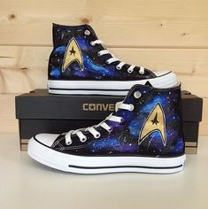 Star Trek Galaxy Converse Chuck Taylors. Yes, Please. Need these right now.