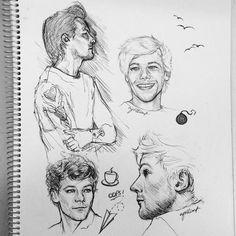 Louis by cyrilliart One Direction Fan Art, One Direction Drawings, One Direction Pictures, Louis Tomlinson, Pencil Art Drawings, Art Drawings Sketches, Desenho Harry Styles, Harry Styles Drawing, Celebrity Drawings