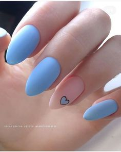 Easy to try nail trends, look here is enough - Page 44 of 140 - Inspiration Diary Acrylic Nails Coffin Short, Simple Acrylic Nails, Best Acrylic Nails, Acrylic Nail Designs, Simple Nails, Blue Nail Designs, Blue Design, Coffin Nails, Edgy Nails