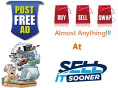 The easiest way of Buying and Selling..!!!  Post your free ad on sellitsooner.com and gets thousands of #buyers for your product. Try it now  #classifieds #freeclassifieds #marketing #buy #sell