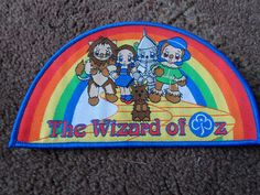 Wizard of Oz brownie guide guiding badge patch fabric bright rainbow new | eBay