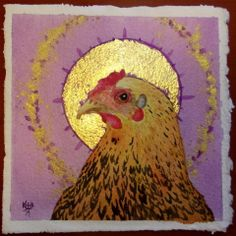 Noble Nugget- small watercolor with gold leaf and pigment by Kirsten Beitler. Prints and cards available at Fine Art America http://fineartamerica.com/featured/noble-nugget-kirsten-beitler.html