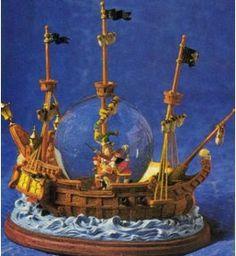 Disney Snowglobes Collectors Guide: Peter Pan Pirate Ship Snowglobe