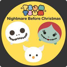 Krafty Nook: Tsum Tsum - Nightmare Before Christmas Fan Art SVGS