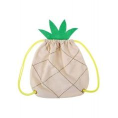 Beautifully designed to look just like a pineapple, this lined cotton canvas bag features glittery gold embroidery, green felt leaves, and sturdy bright drawstring handles. Lined canvas Neon drawstring handles Gold thread & felt crown detail Size: x x Pineapple Backpack, Sacs Tote Bags, Kids Purse, Felt Crown, Suitcase Set, Felt Leaves, Straw Handbags, Gold Embroidery, Cat And Jack