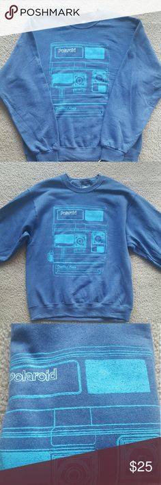 Hipster Polaroid Sweatshirt - Size Medium Brand new with tags Polaroid Sweatshirt. Soft cotton, very fun nostalgic sweater.  #polaroid #hipster #photography Polaroid Shirts Sweatshirts & Hoodies